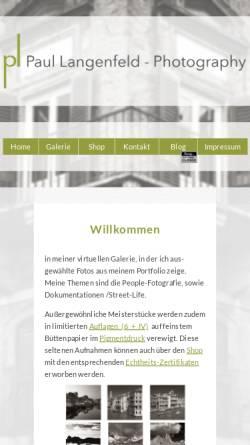 Vorschau der mobilen Webseite www.paul-langenfeld.de, Paul Langenfeld