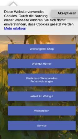 Vorschau der mobilen Webseite www.weingut-hoerner.de, Hörner, Weingut Gerhard