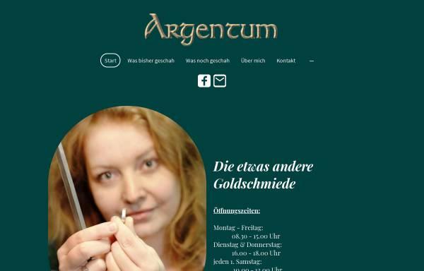 Vorschau von www.argentum-eisenach.de, Goldschmiede Argentum, Inh. Ines Richter