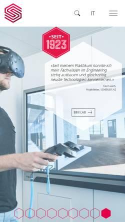 Vorschau der mobilen Webseite www.scherler-ing.ch, Scherler AG