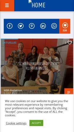 Vorschau der mobilen Webseite www.wartburgradio.org, Offener Hörfunkkanal Eisenach e.V.