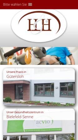 Vorschau der mobilen Webseite www.h-h-sportphysio.de, Herrmann & Harm - Praxis für Physiotherapie