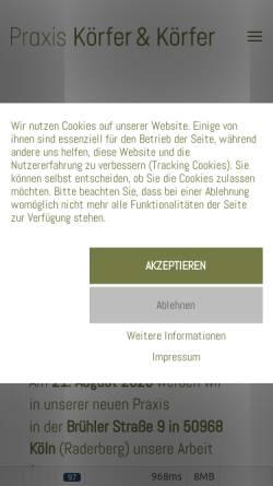 Vorschau der mobilen Webseite www.karinbuerk.de, Karin Bürk - Praxis für Physiotherapie und Osteopathie