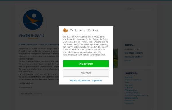Vorschau von www.physiotherapie-heck.de, Physiotherapie Daniela Heck