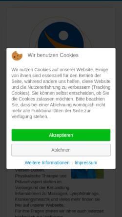 Vorschau der mobilen Webseite www.physiotherapie-heck.de, Physiotherapie Daniela Heck