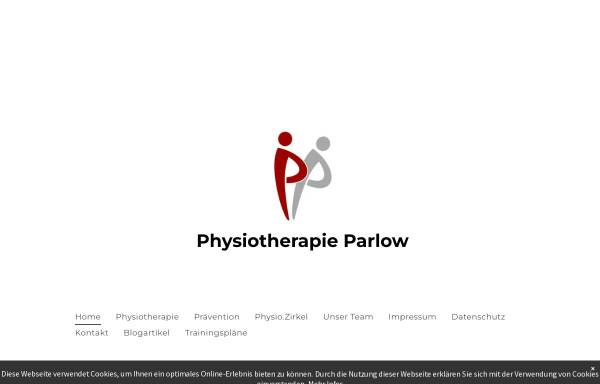 Vorschau von www.physiotherapie-parlow.de, Praxis für Physiotherapie - Dietmar Parlow