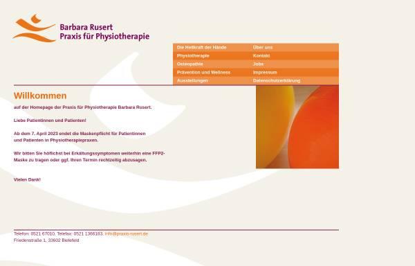 Vorschau von www.praxis-rusert.de, Praxis für Physiotherapie Barbara Rusert