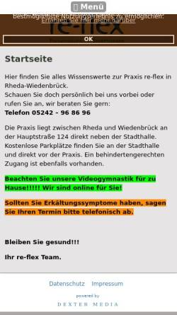 Vorschau der mobilen Webseite www.praxis-re-flex.de, Praxis re-flex