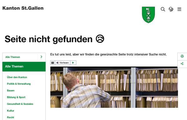 Vorschau von www.sg.ch, Datenschutzbeauftragter des Kantons St. Gallen