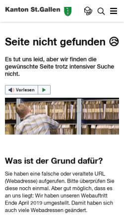 Vorschau der mobilen Webseite www.sg.ch, Datenschutzbeauftragter des Kantons St. Gallen