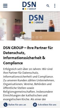 Vorschau der mobilen Webseite www.datenschutz-nord.de, datenschutz nord gmbh