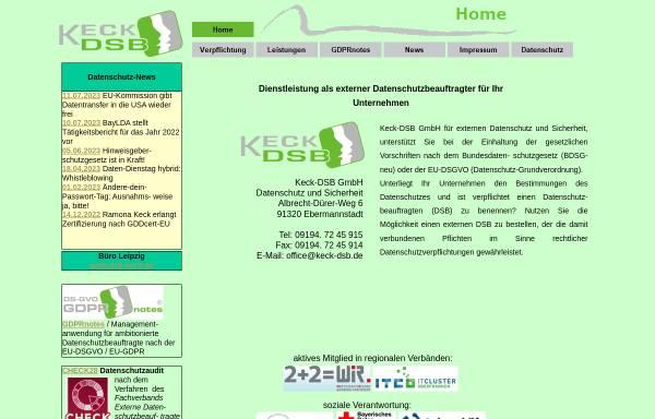 Vorschau von www.keck-dsb.de, Hermann Keck - Datenschutz & Sicherheit