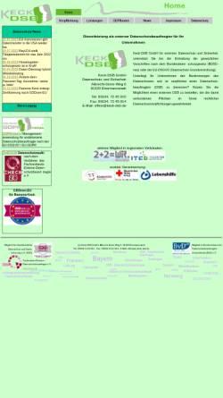 Vorschau der mobilen Webseite www.keck-dsb.de, Hermann Keck - Datenschutz & Sicherheit