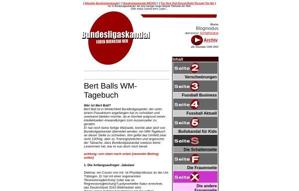 Vorschau von www.bundesligaskandal.de, Bundesligaskandal