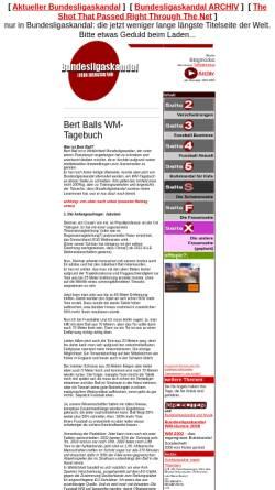 Vorschau der mobilen Webseite www.bundesligaskandal.de, Bundesligaskandal