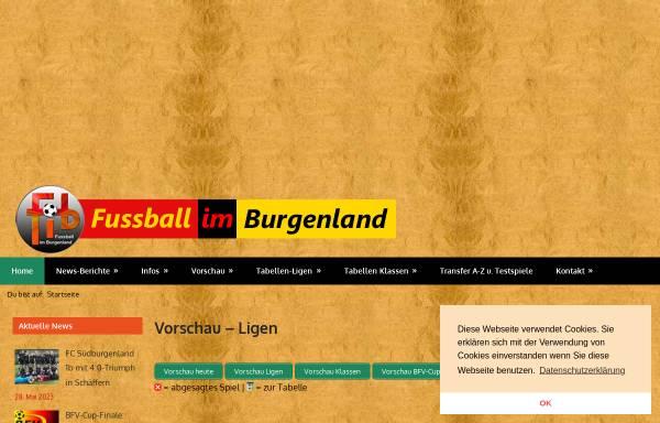 Vorschau von www.bgld-fussball.at, Fußball im Burgenland