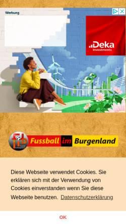 Vorschau der mobilen Webseite www.bgld-fussball.at, Fußball im Burgenland