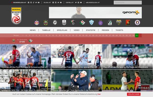 Vorschau von www.bundesliga.at, Österreichische Fußballbundesliga
