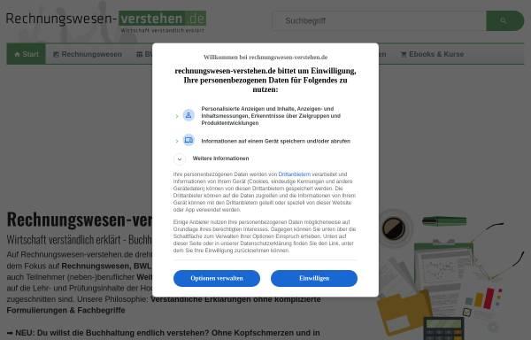 Vorschau von www.rechnungswesen-verstehen.de, Rechnungswesen verstehen