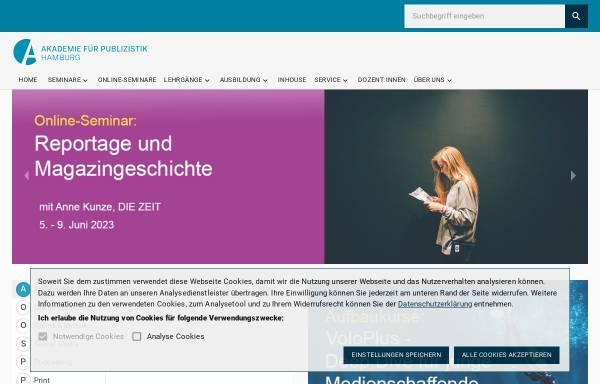 Vorschau von www.akademie-fuer-publizistik.de, Akademie für Publizistik