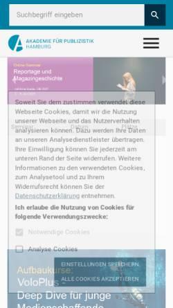 Vorschau der mobilen Webseite www.akademie-fuer-publizistik.de, Akademie für Publizistik
