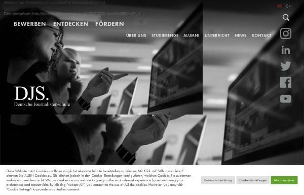 Vorschau von www.djs-online.de, Deutsche Journalistenschule (DJS)