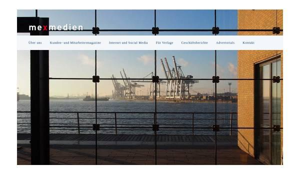 Vorschau von www.mexmedien.de, MEX - Medienbüro Extern GmbH