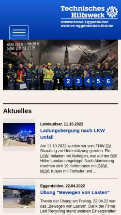 Vorschau der mobilen Webseite ov-eggenfelden.thw.de, THW Ortsverband Eggenfelden