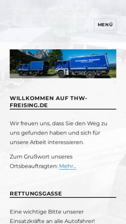 Vorschau der mobilen Webseite www.thw-freising.de, THW Ortsverband Freising