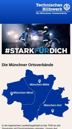 Vorschau der mobilen Webseite www.thw-muenchen.de, THW Ortsverband München