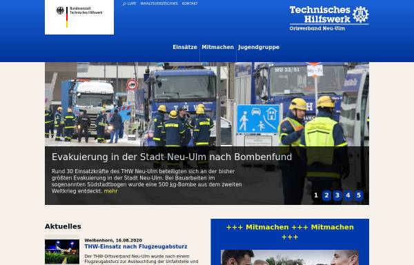 Vorschau von www.thw-neu-ulm.de, THW Ortsverband Neu-Ulm