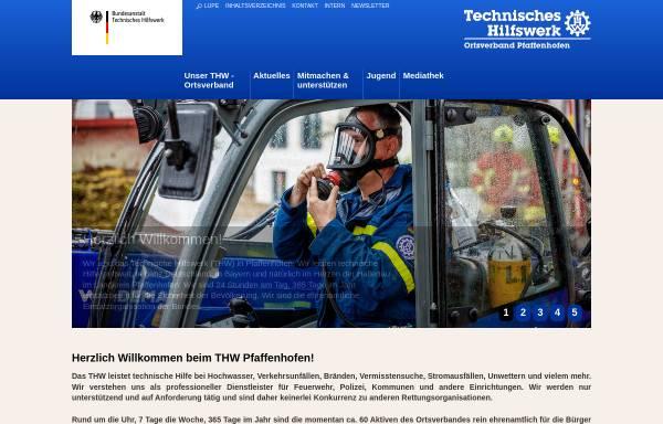 Vorschau von www.thw-pfaffenhofen.de, THW Ortsverband Pfaffenhofen
