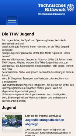 Vorschau der mobilen Webseite www.thw-straubing.de, THW-Jugend Straubing