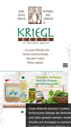 Vorschau der mobilen Webseite www.essigundoelkontor.de, Essig und Öl Kontor
