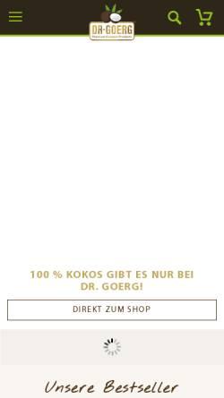 Vorschau der mobilen Webseite www.virgin-coconut-oil.de, Virgin Coconut Oil - Dr. Erliza Görg
