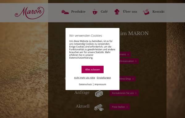 Vorschau von www.maron-chur.ch, Confiserie Maron