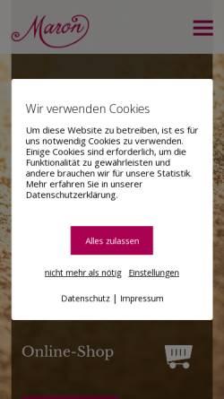 Vorschau der mobilen Webseite www.maron-chur.ch, Confiserie Maron