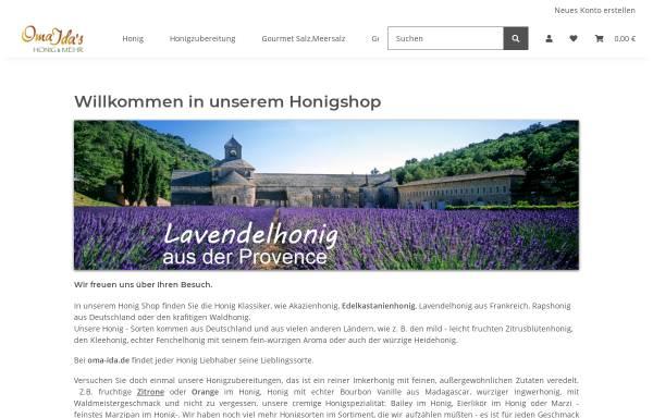 Vorschau von www.oma-ida.de, Oma Ida's Honigspezialitäten, Andreas Willert