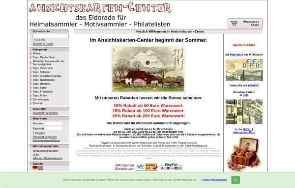 Vorschau von www.ansichtskarten-center.de, Ansichtskarten-Center