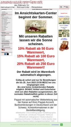 Vorschau der mobilen Webseite www.ansichtskarten-center.de, Ansichtskarten-Center