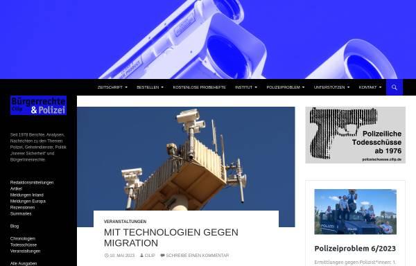 Vorschau von www.cilip.de, Cilip - Institut für Bürgerrechte & öffentliche Sicherheit e.V.