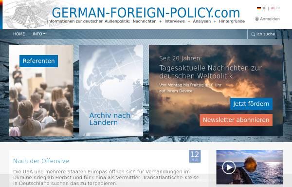 Vorschau von www.german-foreign-policy.com, Informationen zur deutschen Außenpolitik