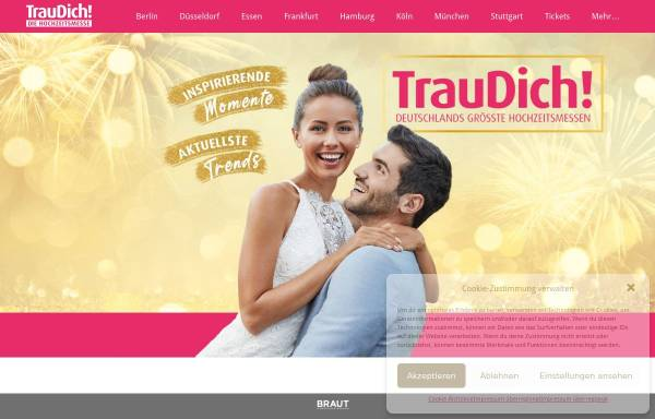 Vorschau von traudich.de, Trau Dich Hochzeitsmesse