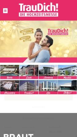 Vorschau der mobilen Webseite traudich.de, Trau Dich Hochzeitsmesse