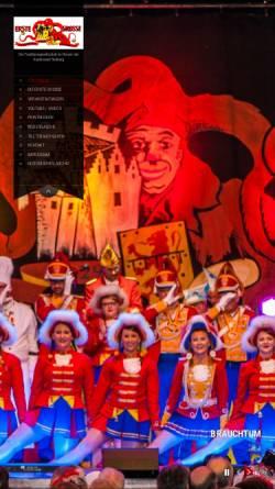 Vorschau der mobilen Webseite www.erste-grosse.de, Erste Große Stolberger Karnevals-Gesellschaft e.V.