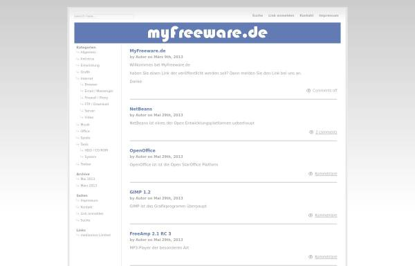 Vorschau von www.myfreeware.de, MyFreeware.de