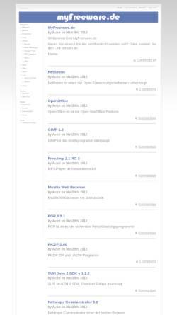 Vorschau der mobilen Webseite www.myfreeware.de, MyFreeware.de