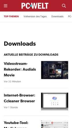Vorschau der mobilen Webseite www.pcwelt.de, PC-WELT online