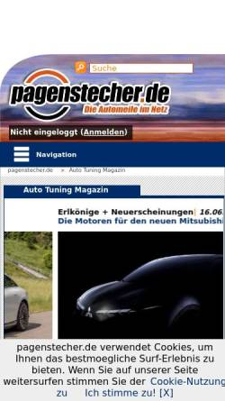 Vorschau der mobilen Webseite www.pagenstecher.de, Pagenstecher