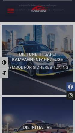 Vorschau der mobilen Webseite www.tune-it-safe.de, Tune it! Safe!
